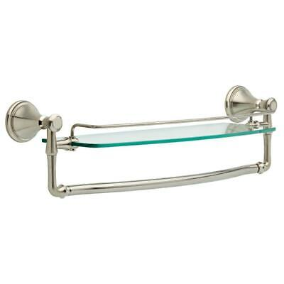Delta Bathroom Glass Shelf (Delta Cassidy 18 in. Glass Bathroom Shelf with Towel Bar in Stainless 79710-SS )