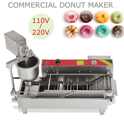 1100pcsh Heavy Duty Electric Auto Cake Donut Doughnut Maker Machine Fryer 3mold