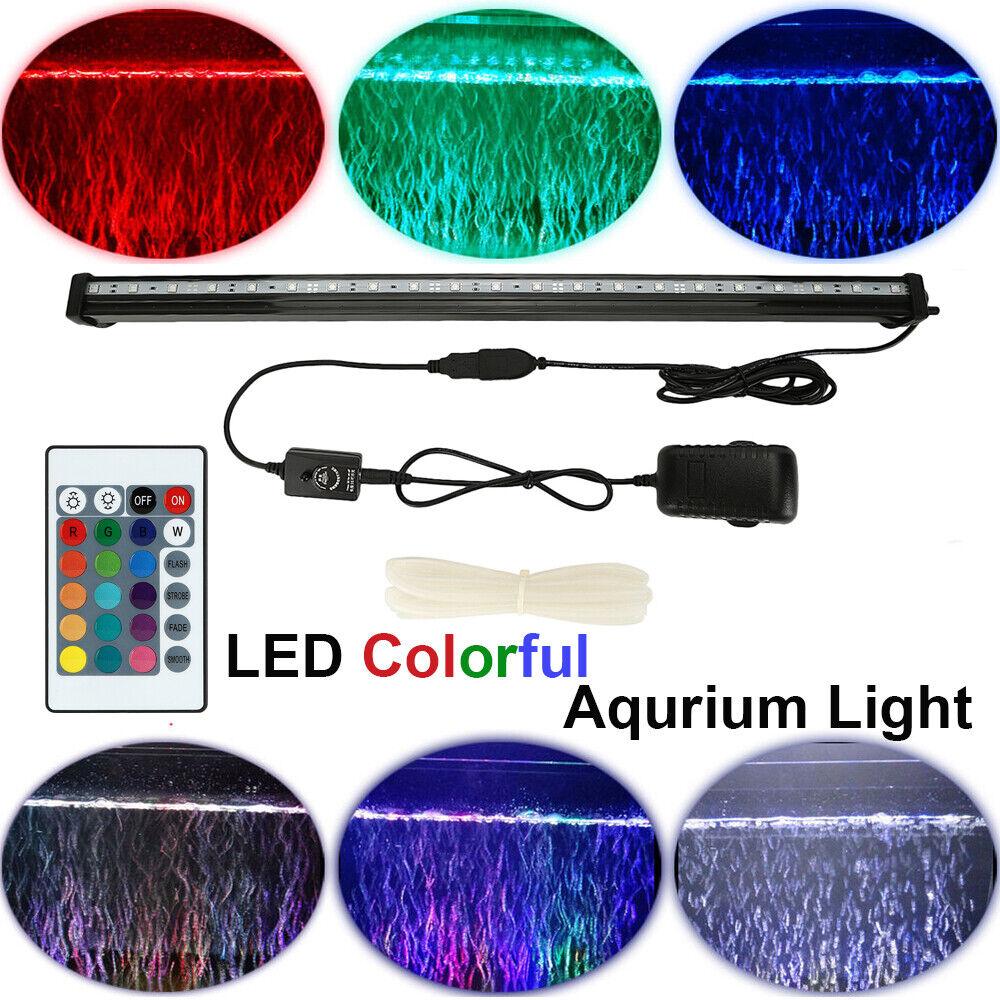 Aquarium Underwater Air Bubble LED Light Fish Tank RGB ...