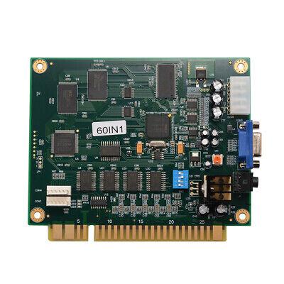Classic JAMMA Arcade Game 60-in-1 Motherboard Multi Board CGA/VGA Output AC708