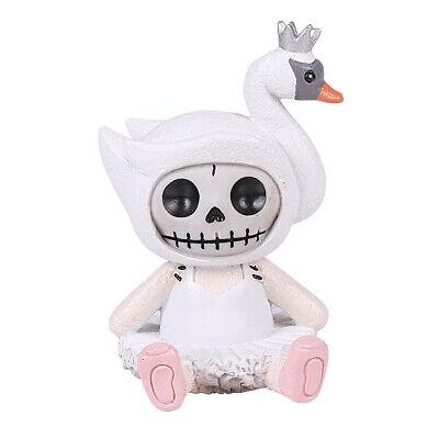 Furrybones Odette Skeleton in Swan Costume Figurine