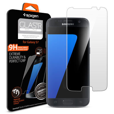 Spigen® Samsung Galaxy S7 [tR SLIM] Shockproof Tempered Magnifying glass Screen Protector
