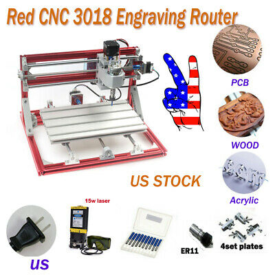 Cnc 3018 Engraving Router 15 W Laser Module Carving Milling Cutting Machines