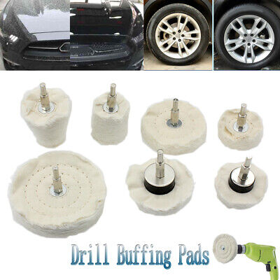 7 Packs Polishing Buffing Drill Pad Mop Wheel Manifold Aluminum Steel H-Quality Polishing Aluminum Wheels