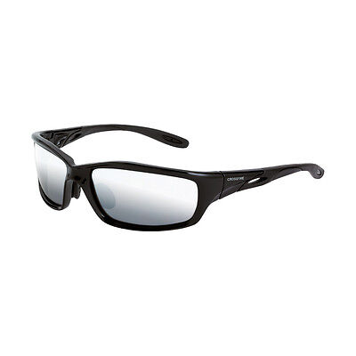 CrossFire Safety Glasses with Silver Mirror Lens, Black (Glasses With Mirror)