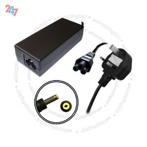FOR PACKARD BELL ETNA-GL 19V 3.42A 1.7MM LAPTOP CHARGER + UK POWER CORD S247