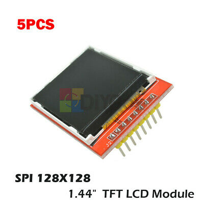 5pc 1.44 Red Serial 128x128 Spi Color Tft Lcd Module Display Replace Nokia 5110