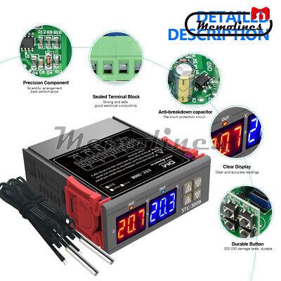Stc-3008 110-220v Digital Temperature Thermostat Controller Dual Led Ntc Probe