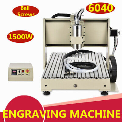 3axis Cnc 6040 Router Engraving Engraver Metal Milling Machine 1.5kw Ball Screw