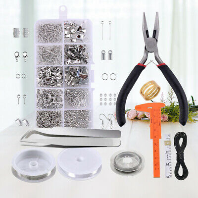 Jewelry Findings Making Supplies Lot Necklace Repair Tools Kit DIY Craft Set US