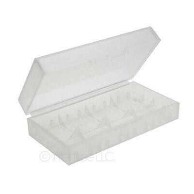 (Lot 2) Hard Plastic Battery Case Holder Storage Box for 18650 16340 CR123A