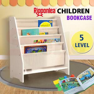 Kids Children Bookcase Canvas Book Magazine Shelf Bookshelf Unit Storage Display