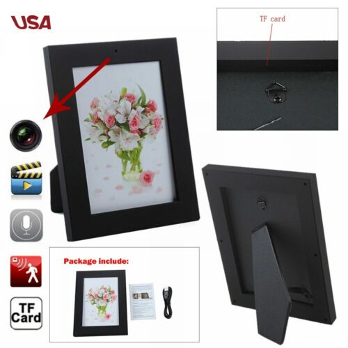 Picture Photo Frame Home Spy Security Camera Hidden Motion D