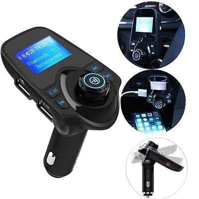 LCD Bluetooth Auto KFZ FM Transmitter MP3 Musik Player Freisprechanlage USB AUX