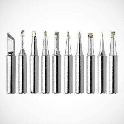 New 10pc Soldering Iron Tips 900m-t Series For Solder Rework Station Repair Tool