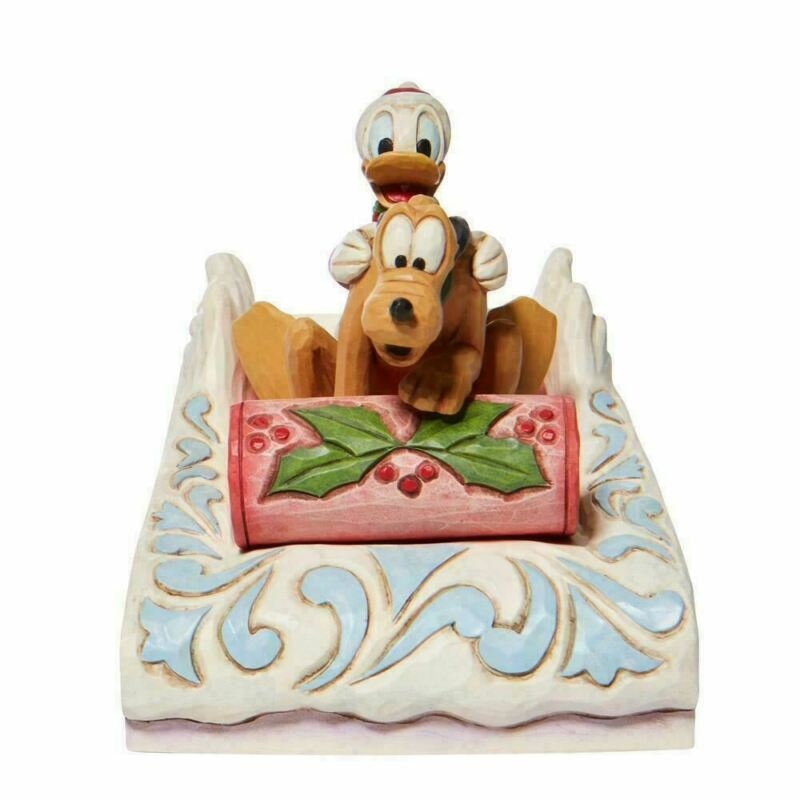 Disney Traditions Donald and Pluto Sleddin Figurine 6008973