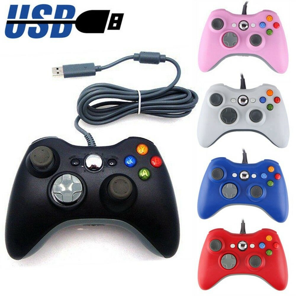 New USB GamePad Wired Controller For Microsoft Xbox 360 Cons