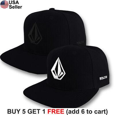 Volcom Full Stone Cap Logo Snap Back Hat Surf Skate Snow Board Extreme Sports - Board Hat