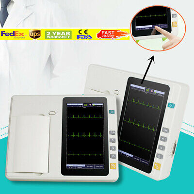 Ekg Cardiac Lcd 12-lead 3-channel Electrocardiograph Ecgekg Machinebatteries