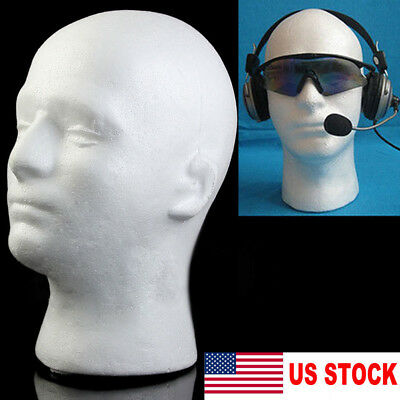 Us Male Styrofoam Mannequin Manikin Head Model Foam Wig Hair Glasses Display