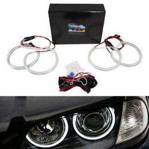 Xenon White Headlight SMD LED Angel Eyes Halo Rings For BMW E39 E46 3 5 Series