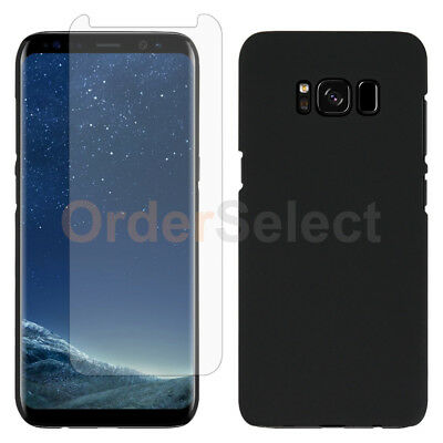 For Samsung Galaxy S8 Situation Slim Plastic Protective Cover+LCD HD Screen Protector