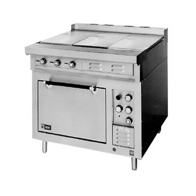 "Lang R36S-ATA 36"" Electric Range W/ 1 24"" Griddle & 2 French Plates"