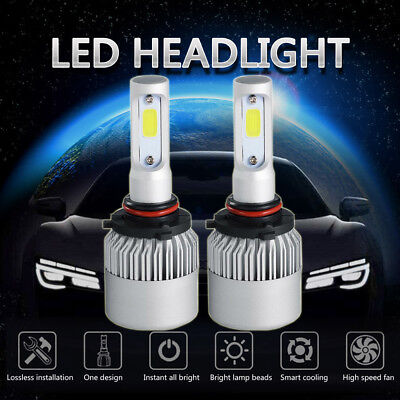 9006 1300W 195000Lm Cree Led Low Beam Headlight Conversion Kit 6000K White Bulbs