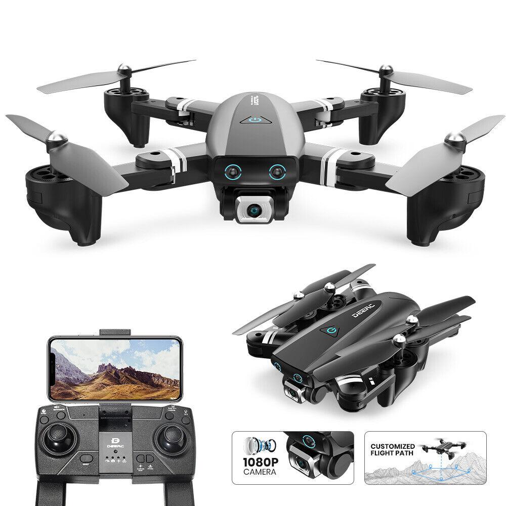 DEERC S167 GPS RC Drohne mit PFV 1080P WIFI HD Kamera Quadcopter Drone Schwarz