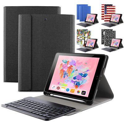 (For iPad 9.7 2018 Keyboard Case w/ Pencil Holder