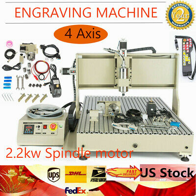 2200w Usb 4axis Cnc 6090 Router 3d Drilling Milling Engraving Machinecontroller