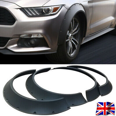 4× Universal ABS Plastic Fender Flares New School Wheel Arches Extension 800mm L