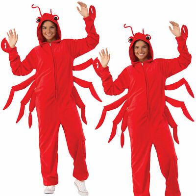 Rot Krabbe Kostüm Herren Hummer Küste Strand Sommer See Stag Party Erwachsene