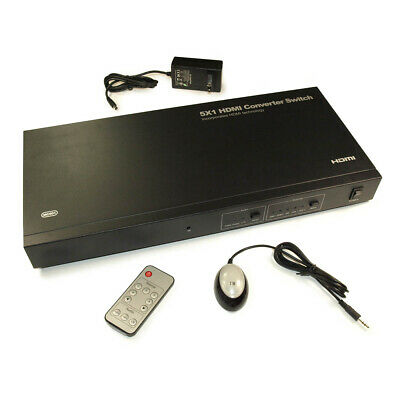 Multi-Source (Component  DVI & L/R Audio  HDMI to HDMI Switch/Converter for sale  Shipping to India
