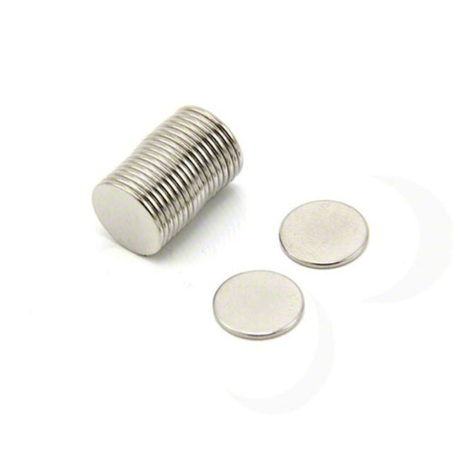 12mm dia x 1mm N42 Neodymium Craft Magnet - 0.55kg Pull (x20)