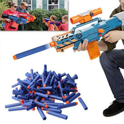 400pcs Bullet Darts For NERF Kids Toy Gun N-Strike Round Head Blasters #S Blue 4