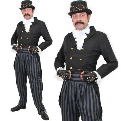 MENS STEAMPUNK COSTUME VINTAGE VICTORIAN MAN HALLOWEEN FANCY DRESS OUTFIT
