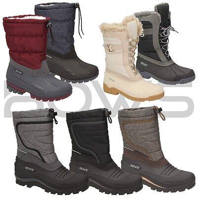 BOWS® Winter Stiefel / Warmfutter Damen Schuhe Boots mit wasserdichter Galosche