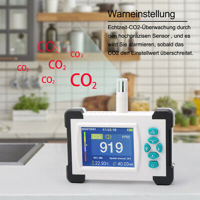 5 Pcs Carbon Dioxide Detector Co2 Ppm Meters Gas Analyzer Air Quality Monitor
