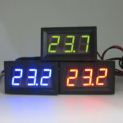 12v Digital Display Led Temperature Monitoring Thermometer Meter With Temp Probe