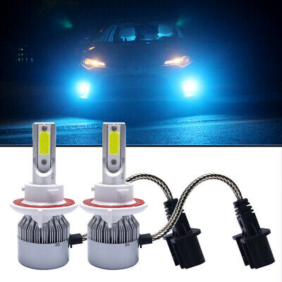 H13 9008 LED Headlight Bulb 55W 8000LM High Low Beam Headlamp 8000K Ice Blue