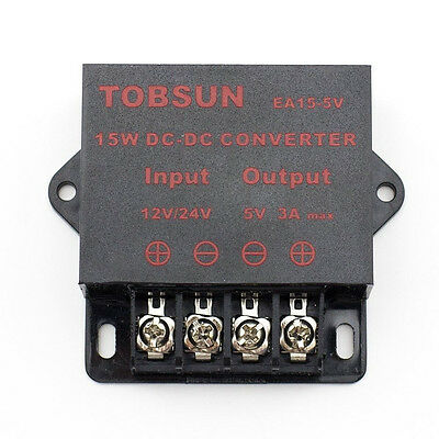 Supernight Dc-dc 12v 24v To 5v 3a Converter Step Down Regulator Module 15w