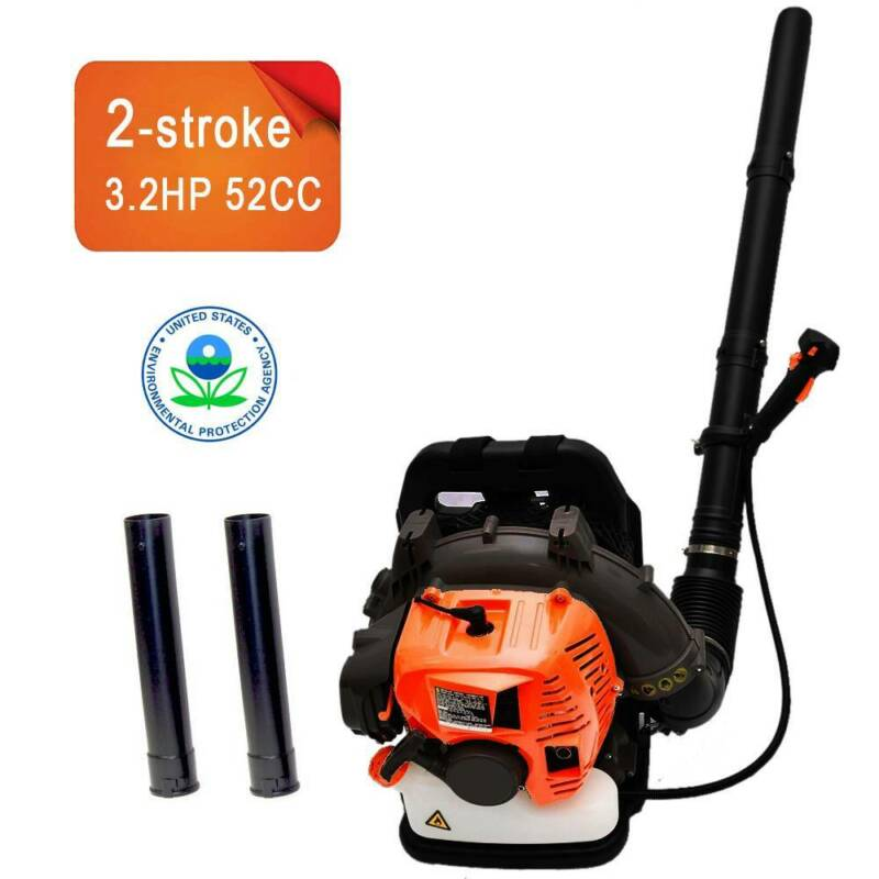 2stroke backpack gas leaf blower 52cc 3