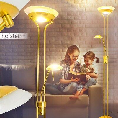 Deckenfluter Lesearm Wohn Zimmer Lampen Steh Stand Boden Leuchte dimmbar Messing