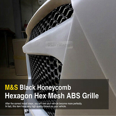 Rs Style M S Black Honeycomb Mesh Abs Grille Custom Kit 43 X16  For All Vehicle