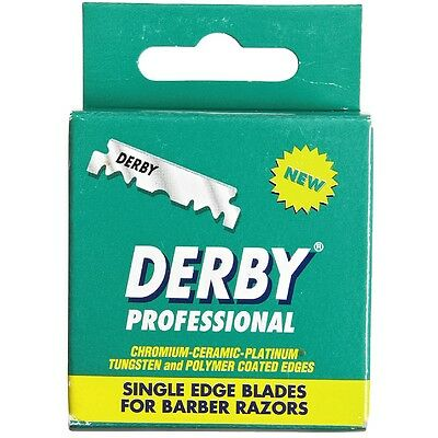 Derby Professional Single Edge Razor Blades 100 ea