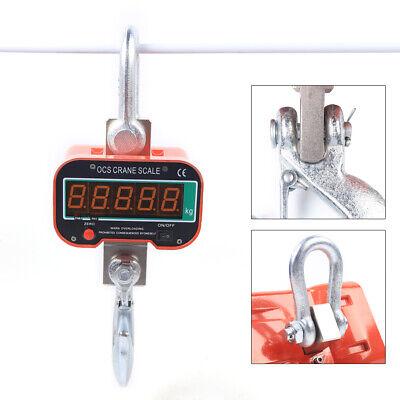 3000 Kg 6600 Lbs Led Digital Crane Scale Heavy Duty Industrial Hanging Scale
