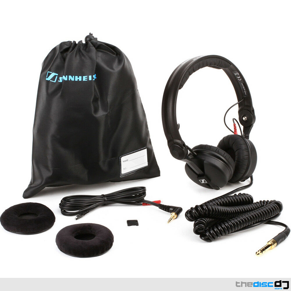 Sennheiser HD25 Plus DJ Headphones + Coiled & Straight Cables, Bag & Spare Pads