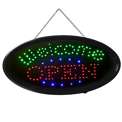 Bright Led Neon Business Sign Animated Welcome Open Shop Restaurant Light