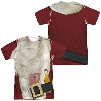 BAD SANTA CLAUS Printed 2-Sided T-Shirt Easy Halloween Costume S-3XL (Bad Santa Halloween Costume)